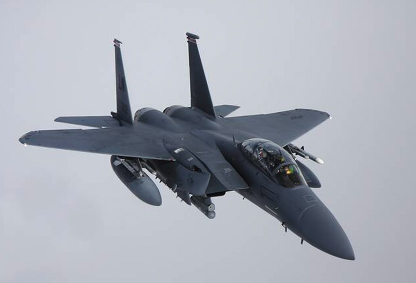 F-15 Fighter Aircraft flying in the air